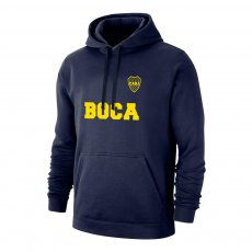 "Boca Juniors ""Text"" footer with hood, dark blue"