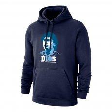Maradona 'D10S' footer with hood, dark blue