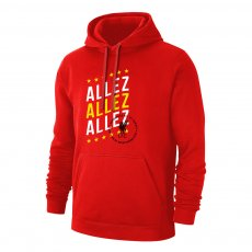 Liverpool '3 ALLEZ' footer with hood, red