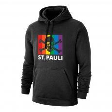 St. Pauli 'Skull & Crossbones - Rainbow Flag' footer with hood, black