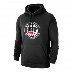 St. Pauli 'Anti - Fascist' footer with hood, black
