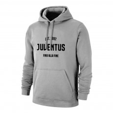 Juventus 'Fino Alla Fine' footer with hood, grey