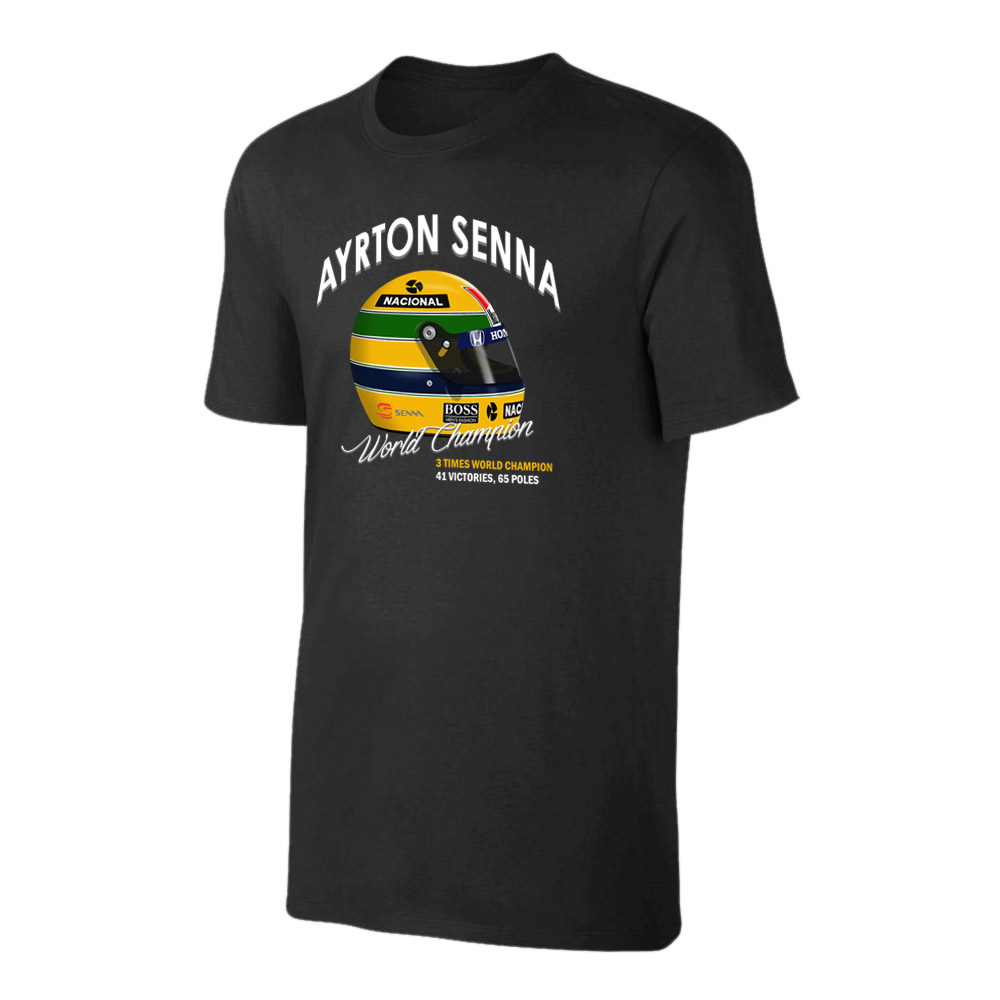 Ayrton Senna 'Helmet' t-shirt, black