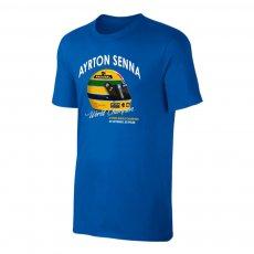 Ayrton Senna 'Helmet' t-shirt, blue