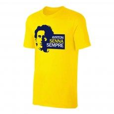 Ayrton Senna 'Sempre' t-shirt, yellow