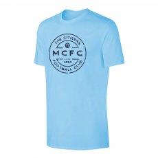Manchester City 'Stamp' t-shirt, light blue