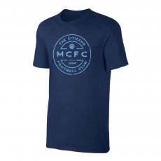 Manchester City 'Stamp' t-shirt, dark blue