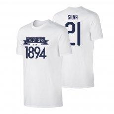 Manchester City 'CITIZENS' t-shirt SILVA, white