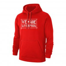 Liverpool 'We Are LIVERPOOL' footer with hood, red