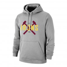 West Ham 'IRONS' footer with hood, grey
