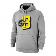Borussia Dortmund 'B' footer with hood, grey