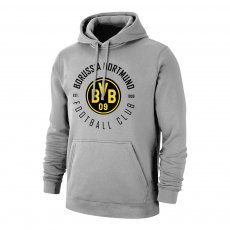 Borussia Dortmund 'Circle' footer with hood, grey