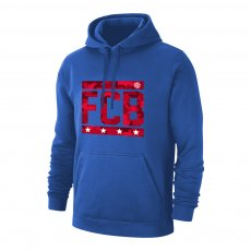 Bayern Munich 'Camouflage' footer with hood, blue