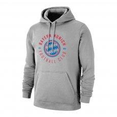 Bayern Munich 'Circle' footer with hood, grey