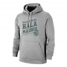 Real Madrid 'Hala Madrid' footer with hood, grey