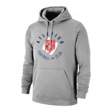 Atletico Madrid 'Circle' footer with hood, grey
