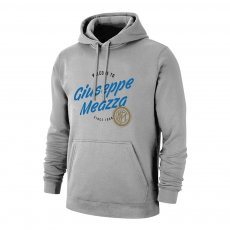 Inter 'Giuseppe Meazza' footer with hood, grey