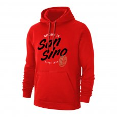 Milan 'San Siro' footer with hood, red