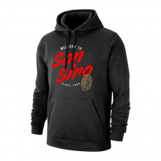 Milan 'San Siro' footer with hood, black