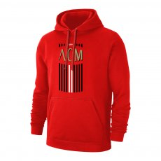 Milan 'ACM' footer with hood, red