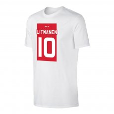 Ajax 'ΤΕΑΜ Shirt' t-shirt LITMANEN, white