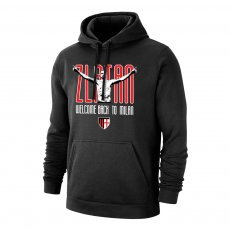 Milan 'Zlatan Welcome Back' footer with hood, black