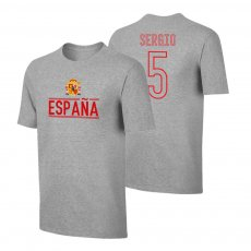 Spain EU2020 'Qualifiers' t-shirt BUSQUETS , grey