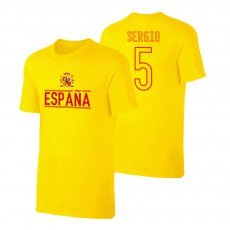 Spain EU2020 'Qualifiers' t-shirt BUSQUETS , yellow