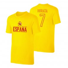 Spain EU2020 'Qualifiers' t-shirt MORATA, yellow