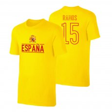 Spain EU2020 'Qualifiers' t-shirt RAMOS, yellow
