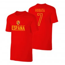 Spain EU2020 'Qualifiers' t-shirt MORATA, red