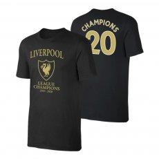 Liverpool 'League Champions 2019/20' t-shirt, black