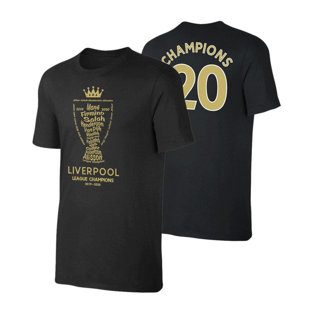 Liverpool 'Champions Trophy 2019/20' t-shirt, black
