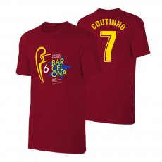 Barcelona Road to MADRID t-shirt COUTINHO, crimson