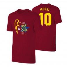 Barcelona Road to MADRID t-shirt MESSI, crimson