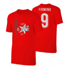 Liverpool Road to MADRID t-shirt FIRMINO, red