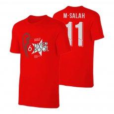Liverpool Road to MADRID t-shirt SALAH, red