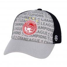 Ολυμπιακός καπέλο Lettering CL, γκρι