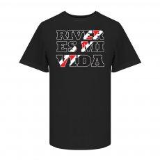 Ρίβερ Πλέιτ μπλουζάκι River Es Mi Vida t-shirt, μαύρο