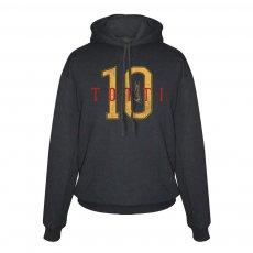 Ρόμα φούτερ με κουκούλα Totti No10, μαύρο