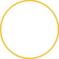 Χούλα-Χουπ 60cm - Φ18mm - 120gr, Κίτρινο