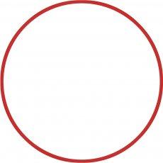 Χούλα-Χουπ 70cm - Φ18mm - 140gr, Κόκκινο