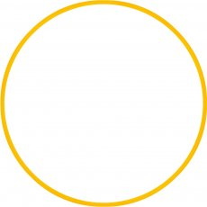 Χούλα-Χουπ 60cm - Φ19mm - 230gr, Κίτρινο