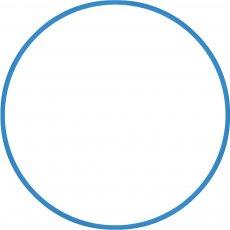 Χούλα-Χουπ 80cm - Φ19mm - 330gr, Μπλε