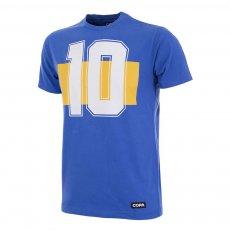 Boca Juniors retro Number 10 t-shirt COPA, blue