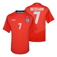 England NT 2004 away shirt BECKHAM