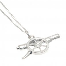 Arsenal F.C. Sterling Silver Pendant & Chain GN
