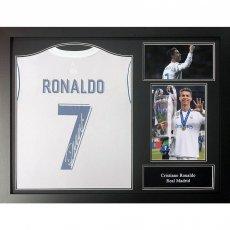 Real Madrid F.C. Ronaldo Signed Shirt (Framed)