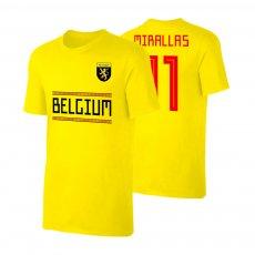 Belgium WC2018 Qualifiers t-shirt MIRALLAS, yellow
