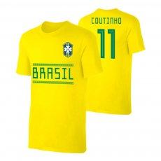 Brasil WC2018 Qualifiers t-shirt COUTINHO, yellow
